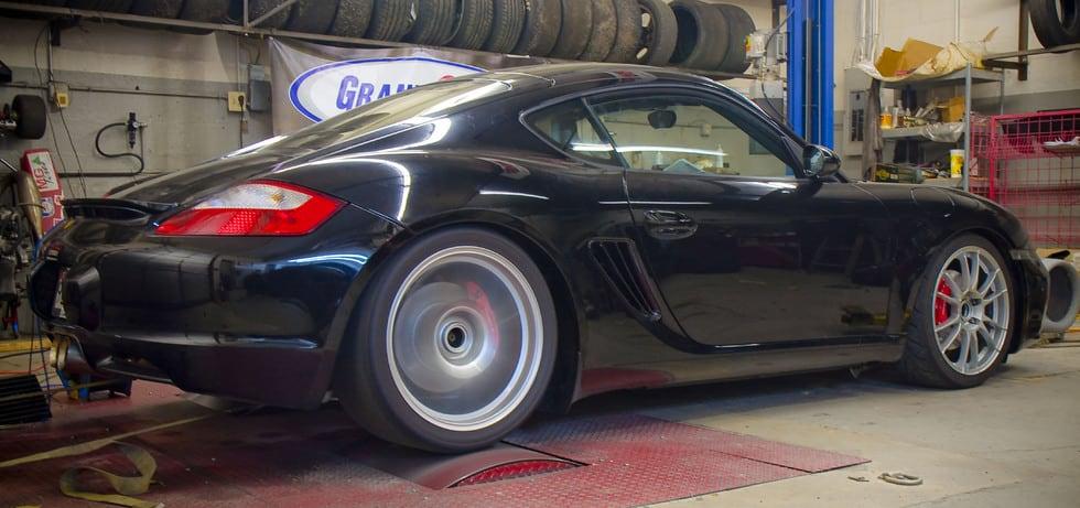 987 Porsche Cayman on dyno at TPC Racing